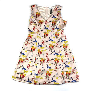 Modcloth Frock Shop Birds & Butterflies Dress / XL